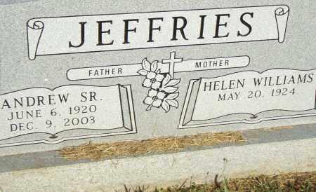 JEFFRIES, SR., ANDREW - Pulaski County, Arkansas   ANDREW JEFFRIES, SR. - Arkansas Gravestone Photos