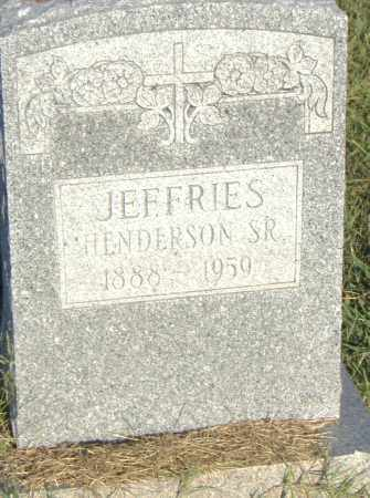 JEFFRIES, SR., HENDERSON - Pulaski County, Arkansas   HENDERSON JEFFRIES, SR. - Arkansas Gravestone Photos
