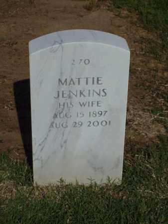 JENKINS, MATTIE - Pulaski County, Arkansas | MATTIE JENKINS - Arkansas Gravestone Photos
