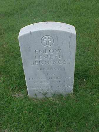 JENNINGS (VETERAN WWII), ENLOW LEMUEL - Pulaski County, Arkansas | ENLOW LEMUEL JENNINGS (VETERAN WWII) - Arkansas Gravestone Photos