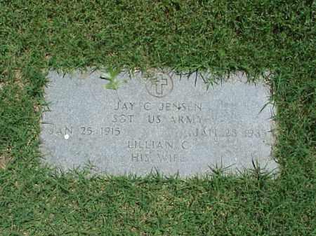 JENSEN (VETERAN WWII), JAY C - Pulaski County, Arkansas | JAY C JENSEN (VETERAN WWII) - Arkansas Gravestone Photos