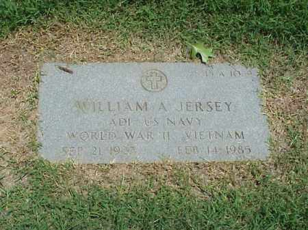 JERSEY (VETERAN 2 WARS), WILLIAM A - Pulaski County, Arkansas | WILLIAM A JERSEY (VETERAN 2 WARS) - Arkansas Gravestone Photos