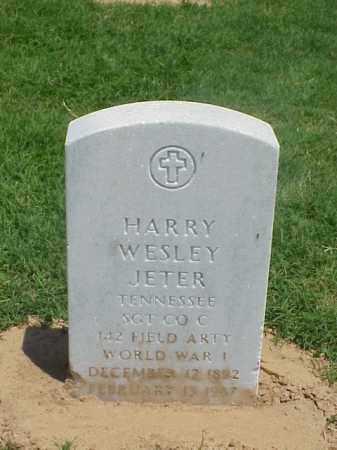 JETER (VETERAN WWI), HARRY WESLEY - Pulaski County, Arkansas | HARRY WESLEY JETER (VETERAN WWI) - Arkansas Gravestone Photos