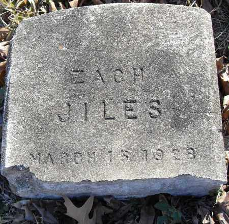 JILES, ZACH - Pulaski County, Arkansas | ZACH JILES - Arkansas Gravestone Photos