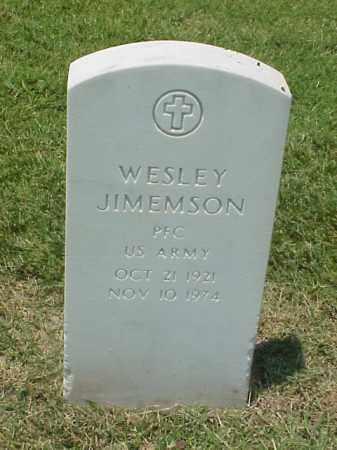 JIMEMSON (VETERAN WWII), WESLEY - Pulaski County, Arkansas | WESLEY JIMEMSON (VETERAN WWII) - Arkansas Gravestone Photos