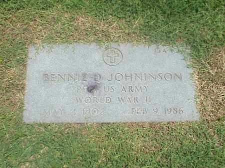 JOHNINSON (VETERAN WWII), BENNIE D - Pulaski County, Arkansas | BENNIE D JOHNINSON (VETERAN WWII) - Arkansas Gravestone Photos