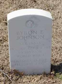 JOHNSON  (VETERAN WWI), BYRON E - Pulaski County, Arkansas | BYRON E JOHNSON  (VETERAN WWI) - Arkansas Gravestone Photos