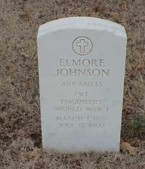 JOHNSON (VETERAN WWI), ELMORE - Pulaski County, Arkansas | ELMORE JOHNSON (VETERAN WWI) - Arkansas Gravestone Photos