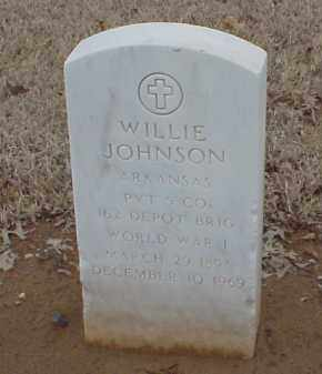 JOHNSON  (VETERAN WWI), WILLIE - Pulaski County, Arkansas   WILLIE JOHNSON  (VETERAN WWI) - Arkansas Gravestone Photos
