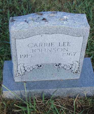 LEE JOHNSON, CARRIE - Pulaski County, Arkansas   CARRIE LEE JOHNSON - Arkansas Gravestone Photos