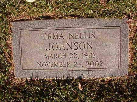 NELLIS JOHNSON, ERMA - Pulaski County, Arkansas | ERMA NELLIS JOHNSON - Arkansas Gravestone Photos