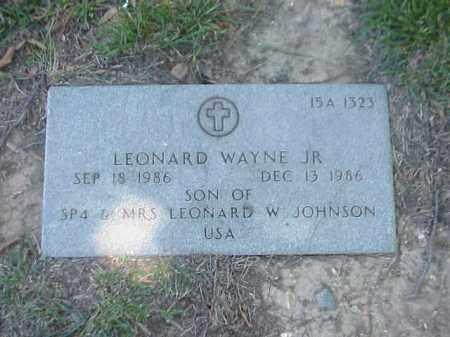 JOHNSON, JR, LEONARD WAYNE - Pulaski County, Arkansas   LEONARD WAYNE JOHNSON, JR - Arkansas Gravestone Photos