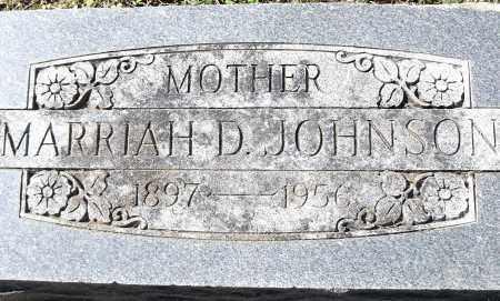 JOHNSON, MARRIAH D - Pulaski County, Arkansas | MARRIAH D JOHNSON - Arkansas Gravestone Photos