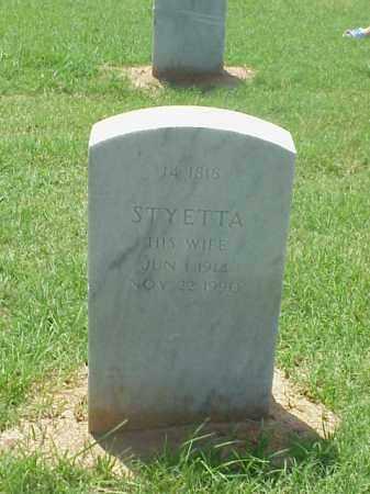 JOHNSON, STYETTA - Pulaski County, Arkansas | STYETTA JOHNSON - Arkansas Gravestone Photos