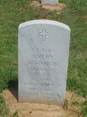 JOHNSON (VETERAN 2 WARS), CLAUD AVERY - Pulaski County, Arkansas | CLAUD AVERY JOHNSON (VETERAN 2 WARS) - Arkansas Gravestone Photos
