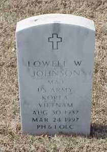JOHNSON (VETERAN 2 WARS), LOWELL W - Pulaski County, Arkansas | LOWELL W JOHNSON (VETERAN 2 WARS) - Arkansas Gravestone Photos