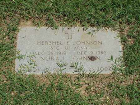 JOHNSON (VETERAN 3 WARS), HERSHEL E - Pulaski County, Arkansas   HERSHEL E JOHNSON (VETERAN 3 WARS) - Arkansas Gravestone Photos