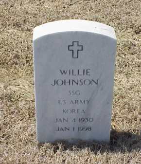JOHNSON (VETERAN KOR), WILLIE - Pulaski County, Arkansas | WILLIE JOHNSON (VETERAN KOR) - Arkansas Gravestone Photos