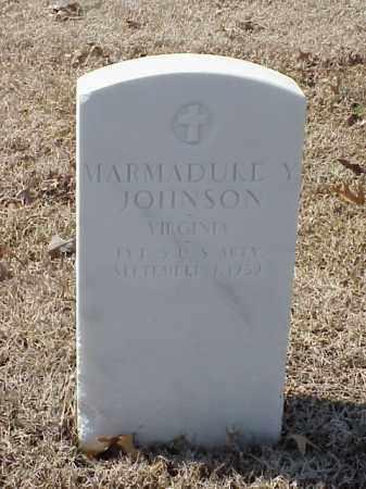 JOHNSON (VETERAN SAW), MARMADUKE Y - Pulaski County, Arkansas | MARMADUKE Y JOHNSON (VETERAN SAW) - Arkansas Gravestone Photos
