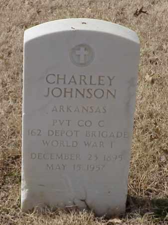 JOHNSON (VETERAN WWI), CHARLEY - Pulaski County, Arkansas | CHARLEY JOHNSON (VETERAN WWI) - Arkansas Gravestone Photos
