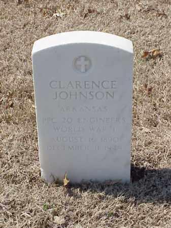 JOHNSON (VETERAN WWI), CLARENCE - Pulaski County, Arkansas | CLARENCE JOHNSON (VETERAN WWI) - Arkansas Gravestone Photos