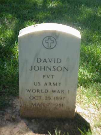 JOHNSON (VETERAN WWI), DAVID - Pulaski County, Arkansas   DAVID JOHNSON (VETERAN WWI) - Arkansas Gravestone Photos