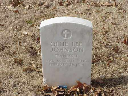 JOHNSON (VETERAN WWI), OLLIE LEE - Pulaski County, Arkansas | OLLIE LEE JOHNSON (VETERAN WWI) - Arkansas Gravestone Photos