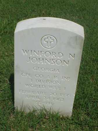JOHNSON (VETERAN WWI), WINFORD N - Pulaski County, Arkansas | WINFORD N JOHNSON (VETERAN WWI) - Arkansas Gravestone Photos
