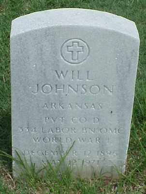 JOHNSON (VETERAN WWI), WILL - Pulaski County, Arkansas | WILL JOHNSON (VETERAN WWI) - Arkansas Gravestone Photos