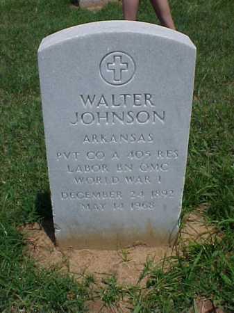 JOHNSON (VETERAN WWI), WALTER - Pulaski County, Arkansas | WALTER JOHNSON (VETERAN WWI) - Arkansas Gravestone Photos