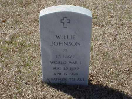 JOHNSON (VETERAN WWI), WILLIE - Pulaski County, Arkansas | WILLIE JOHNSON (VETERAN WWI) - Arkansas Gravestone Photos