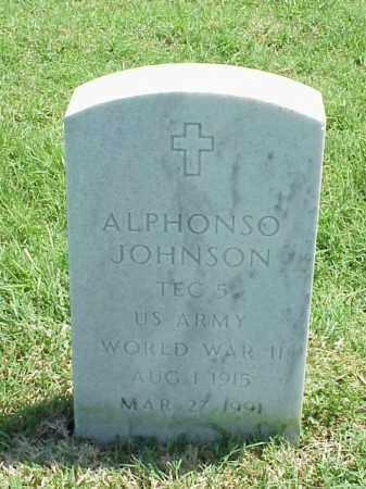 JOHNSON (VETERAN WWII), ALPHONSO - Pulaski County, Arkansas | ALPHONSO JOHNSON (VETERAN WWII) - Arkansas Gravestone Photos