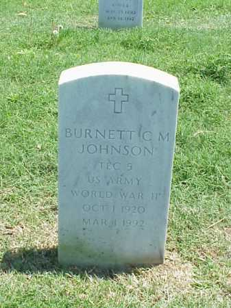JOHNSON (VETERAN WWII), BURNETT C M - Pulaski County, Arkansas | BURNETT C M JOHNSON (VETERAN WWII) - Arkansas Gravestone Photos