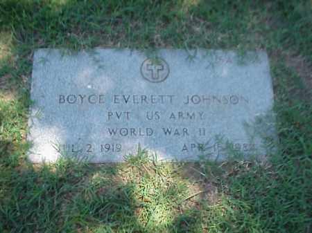 JOHNSON (VETERAN WWII), BOYCE EVERETT - Pulaski County, Arkansas | BOYCE EVERETT JOHNSON (VETERAN WWII) - Arkansas Gravestone Photos