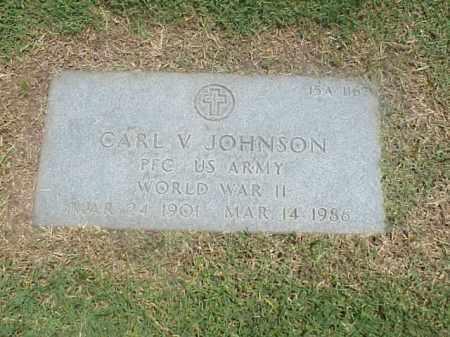 JOHNSON (VETERAN WWII), CARL V - Pulaski County, Arkansas | CARL V JOHNSON (VETERAN WWII) - Arkansas Gravestone Photos