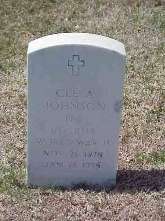 JOHNSON (VETERAN WWII), CLE A - Pulaski County, Arkansas | CLE A JOHNSON (VETERAN WWII) - Arkansas Gravestone Photos