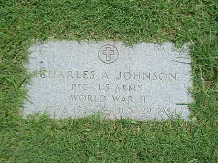JOHNSON (VETERAN WWII), CHARLES A - Pulaski County, Arkansas | CHARLES A JOHNSON (VETERAN WWII) - Arkansas Gravestone Photos