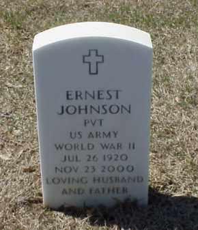 JOHNSON (VETERAN WWII), ERNEST - Pulaski County, Arkansas | ERNEST JOHNSON (VETERAN WWII) - Arkansas Gravestone Photos