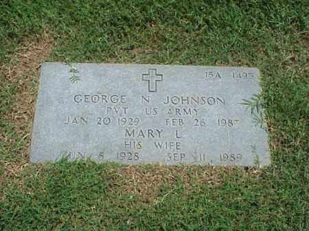JOHNSON (VETERAN WWII), GEORGE N - Pulaski County, Arkansas | GEORGE N JOHNSON (VETERAN WWII) - Arkansas Gravestone Photos