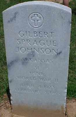 JOHNSON (VETERAN WWII), GILBERT SPRAGUE - Pulaski County, Arkansas   GILBERT SPRAGUE JOHNSON (VETERAN WWII) - Arkansas Gravestone Photos
