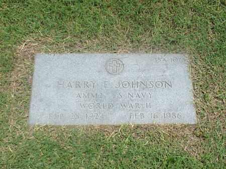 JOHNSON (VETERAN WWII), HARRY E - Pulaski County, Arkansas   HARRY E JOHNSON (VETERAN WWII) - Arkansas Gravestone Photos