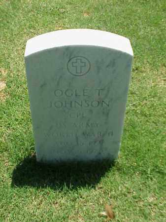 JOHNSON (VETERAN WWII), OGLE T - Pulaski County, Arkansas   OGLE T JOHNSON (VETERAN WWII) - Arkansas Gravestone Photos