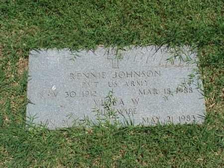 JOHNSON (VETERAN WWII), RENNIE - Pulaski County, Arkansas   RENNIE JOHNSON (VETERAN WWII) - Arkansas Gravestone Photos