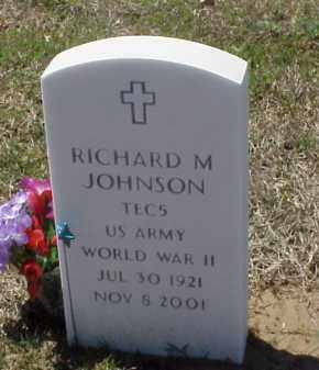 JOHNSON (VETERAN WWII), RICHARD M - Pulaski County, Arkansas   RICHARD M JOHNSON (VETERAN WWII) - Arkansas Gravestone Photos