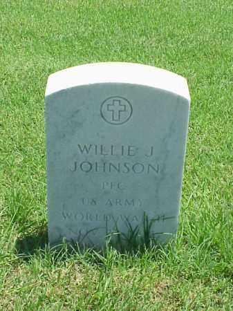 JOHNSON (VETERAN WWII), WILLIE J - Pulaski County, Arkansas | WILLIE J JOHNSON (VETERAN WWII) - Arkansas Gravestone Photos
