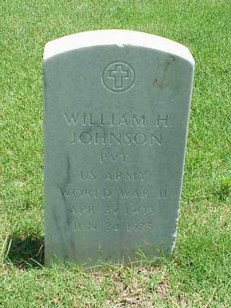JOHNSON (VETERAN WWII), WILLIAM H - Pulaski County, Arkansas | WILLIAM H JOHNSON (VETERAN WWII) - Arkansas Gravestone Photos