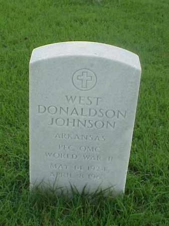 JOHNSON (VETERAN WWII), WEST DONALDSON - Pulaski County, Arkansas | WEST DONALDSON JOHNSON (VETERAN WWII) - Arkansas Gravestone Photos