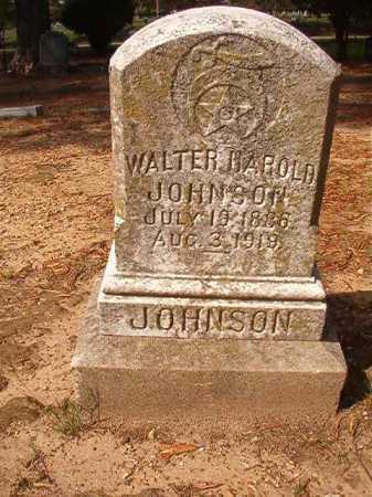JOHNSON, WALTER HAROLD - Pulaski County, Arkansas   WALTER HAROLD JOHNSON - Arkansas Gravestone Photos