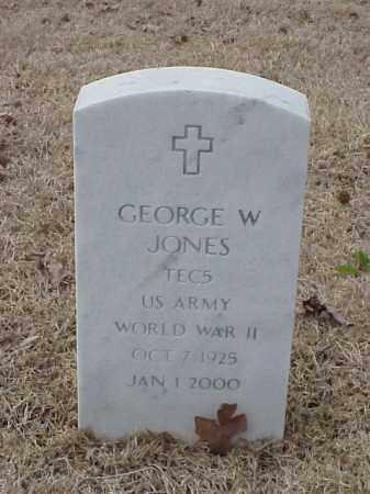 JONES  (VETERAN WWII), GEORGE W - Pulaski County, Arkansas | GEORGE W JONES  (VETERAN WWII) - Arkansas Gravestone Photos
