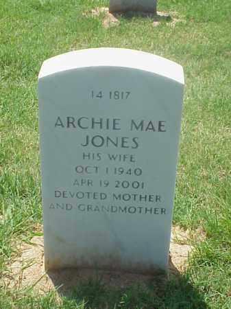 JONES, ARCHIE MAE - Pulaski County, Arkansas | ARCHIE MAE JONES - Arkansas Gravestone Photos